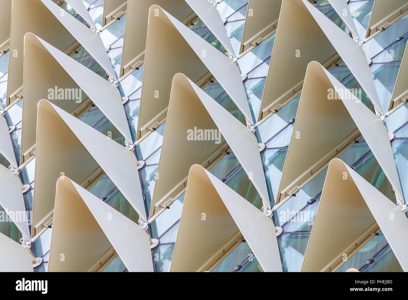 Protruding angles texture - Stock Image