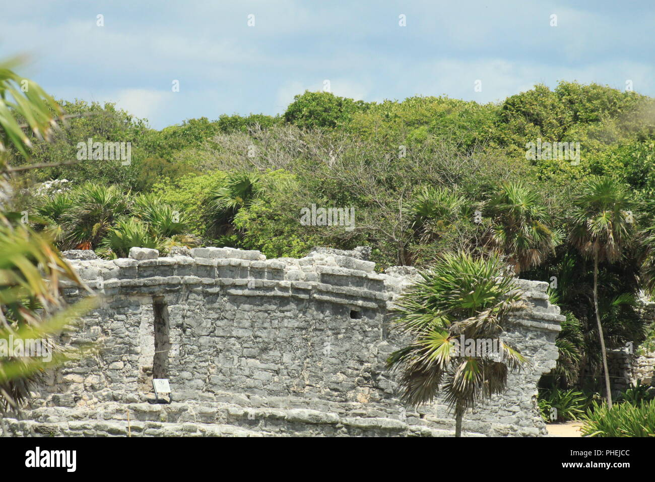 Cancún Archaeological ruins - Stock Image
