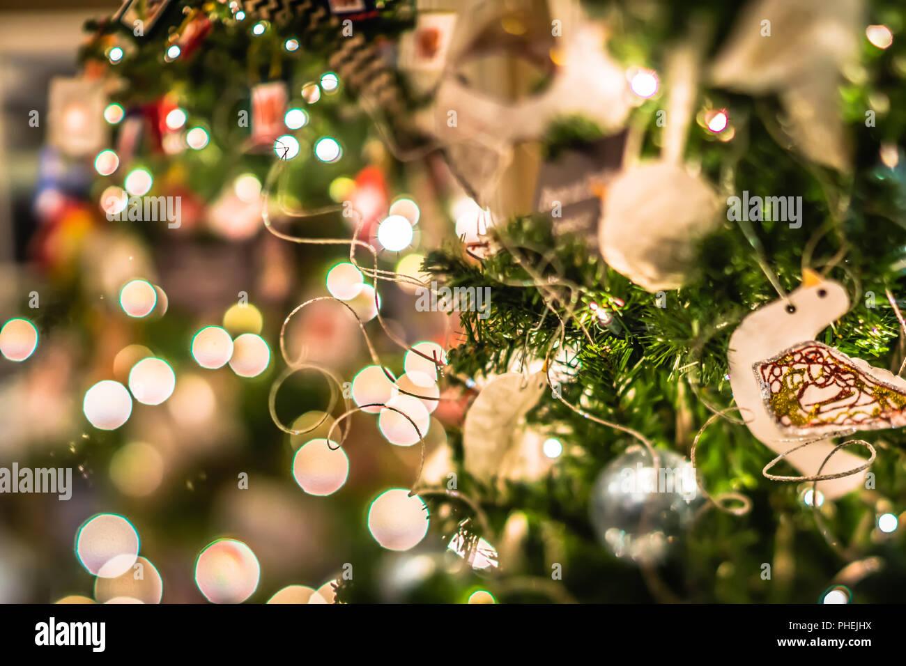 Nice Xmas Tree With Decorations And Lights Stock Photos & Nice Xmas ...