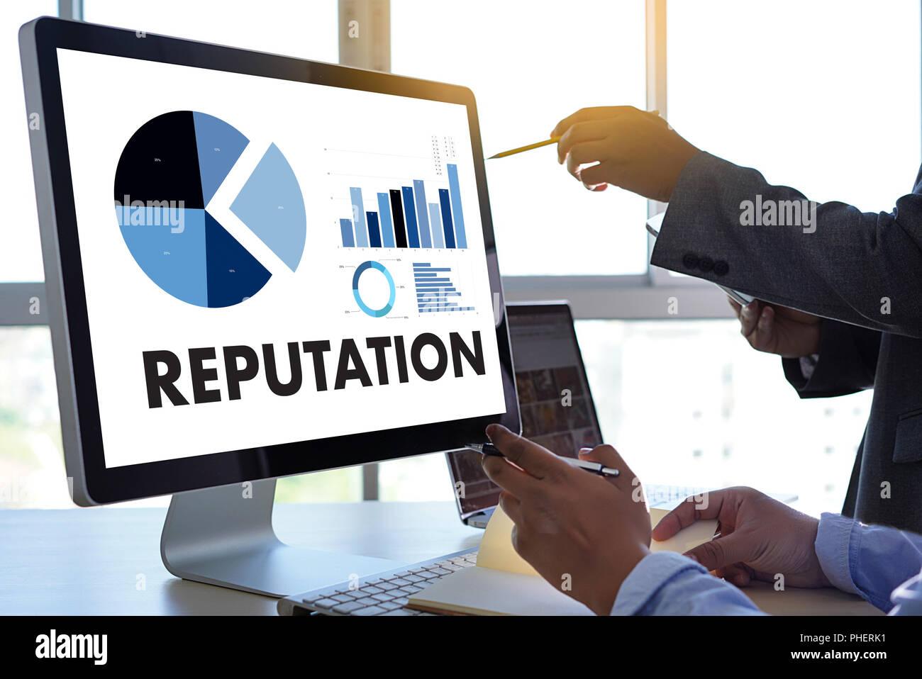 REPUTATION Popular Ranking Honor Reputation management Branding Concept - Stock Image
