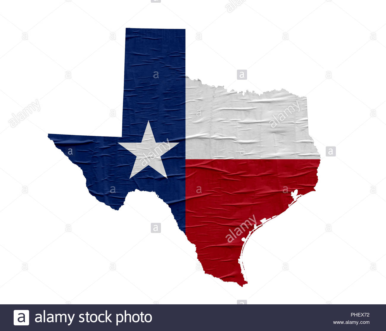 US State Texas map with flag on old paper design Stock Photo ...