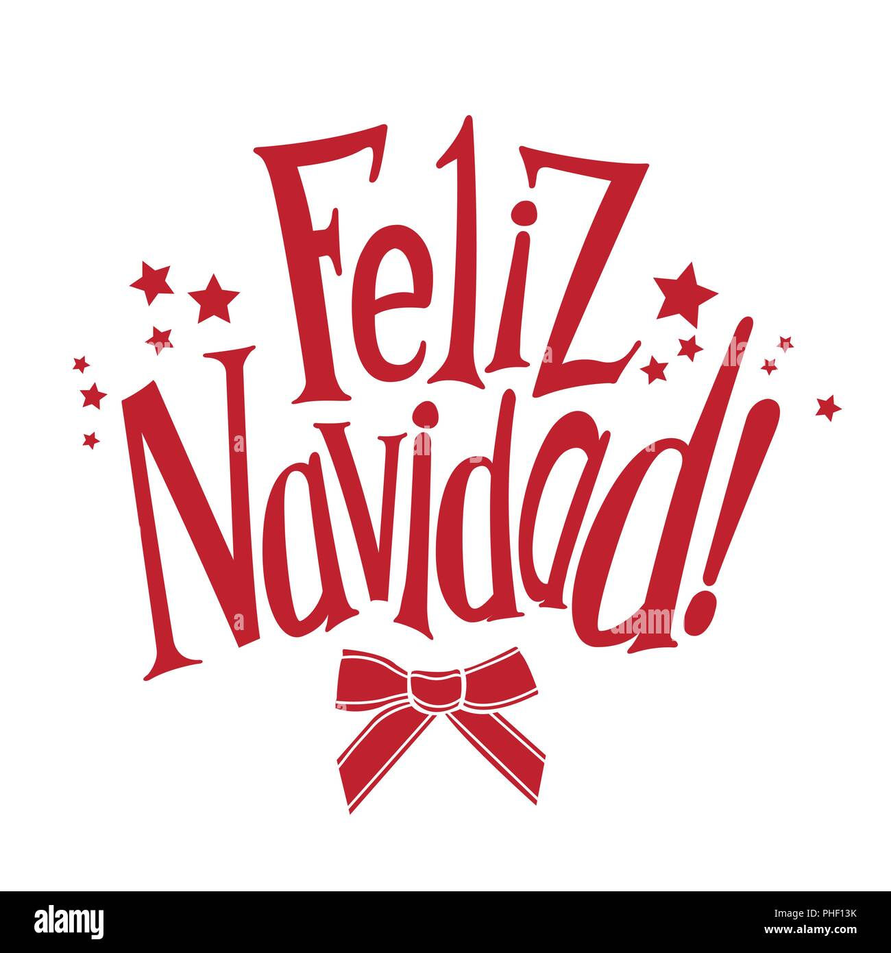 vector wishes a merry christmas in spanish feliz navidad