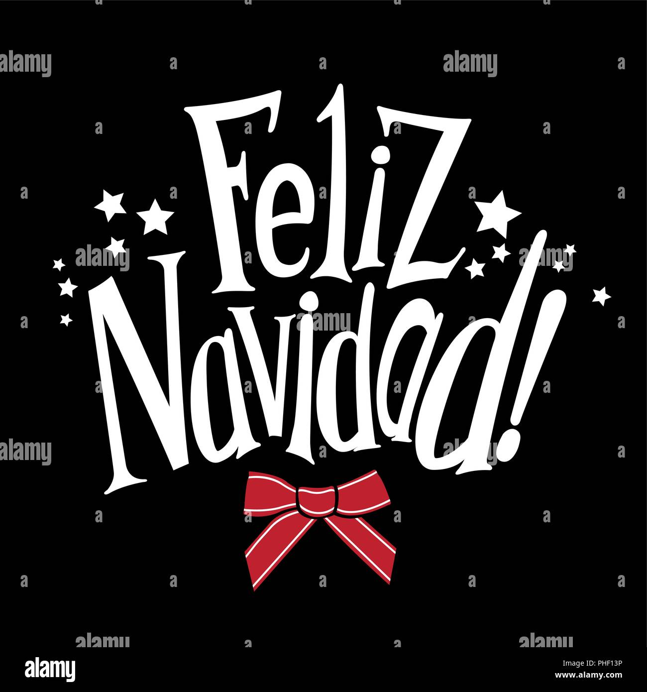 Merry Christmas In Spanish.Vector Wishes A Merry Christmas In Spanish Feliz Navidad