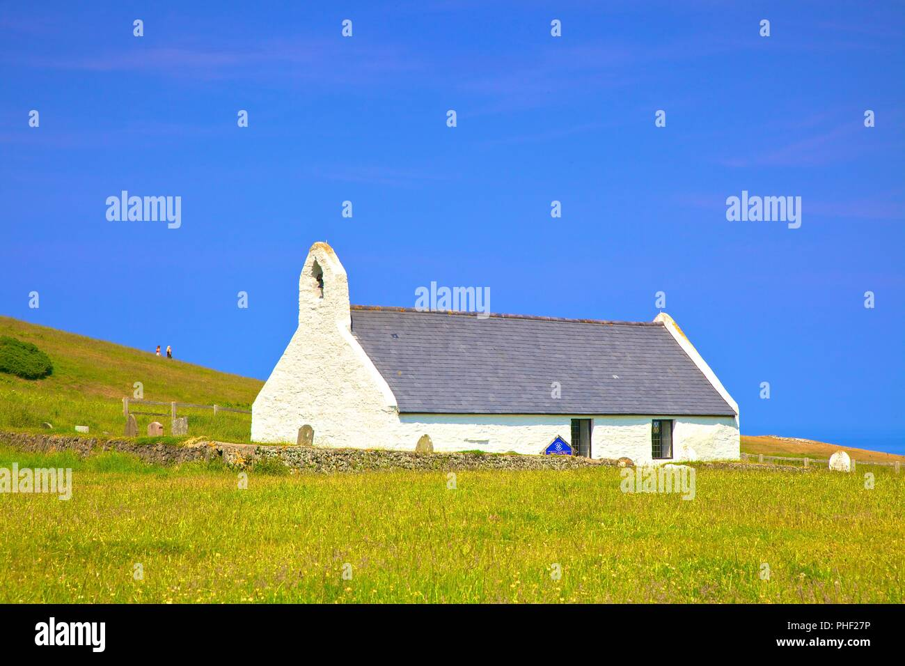 Church of the Holy Cross, Mwnt, Cardigan Bay, Wales, United Kingdom, Europe, - Stock Image