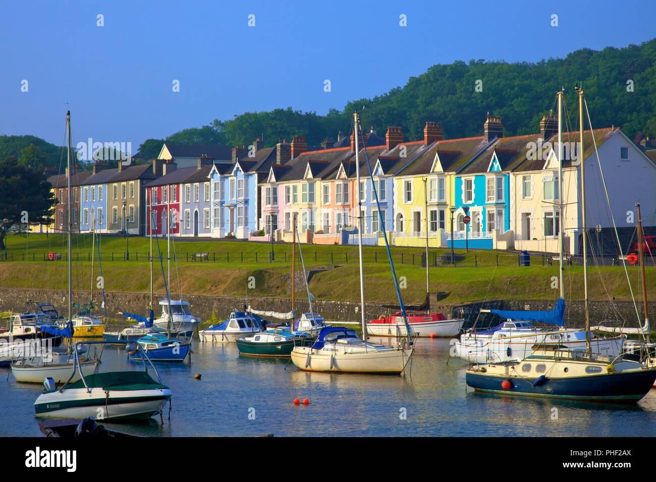 The Harbour at Aberaeron, Cardigan Bay, Wales, United Kingdom, Europe, - Stock Image