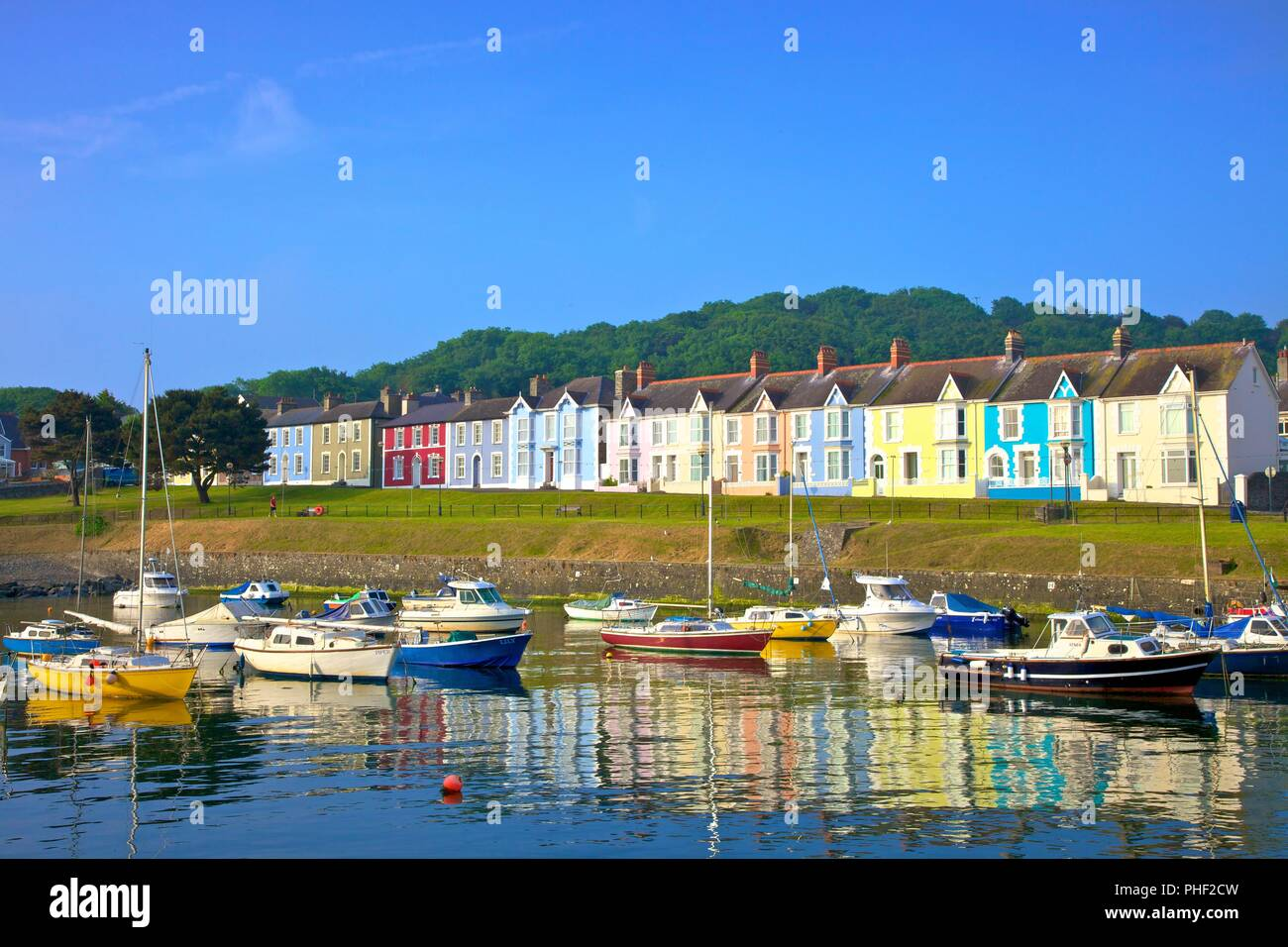 The Harbour at Aberaeron, Cardigan Bay, Wales, United Kingdom, Europe, Stock Photo