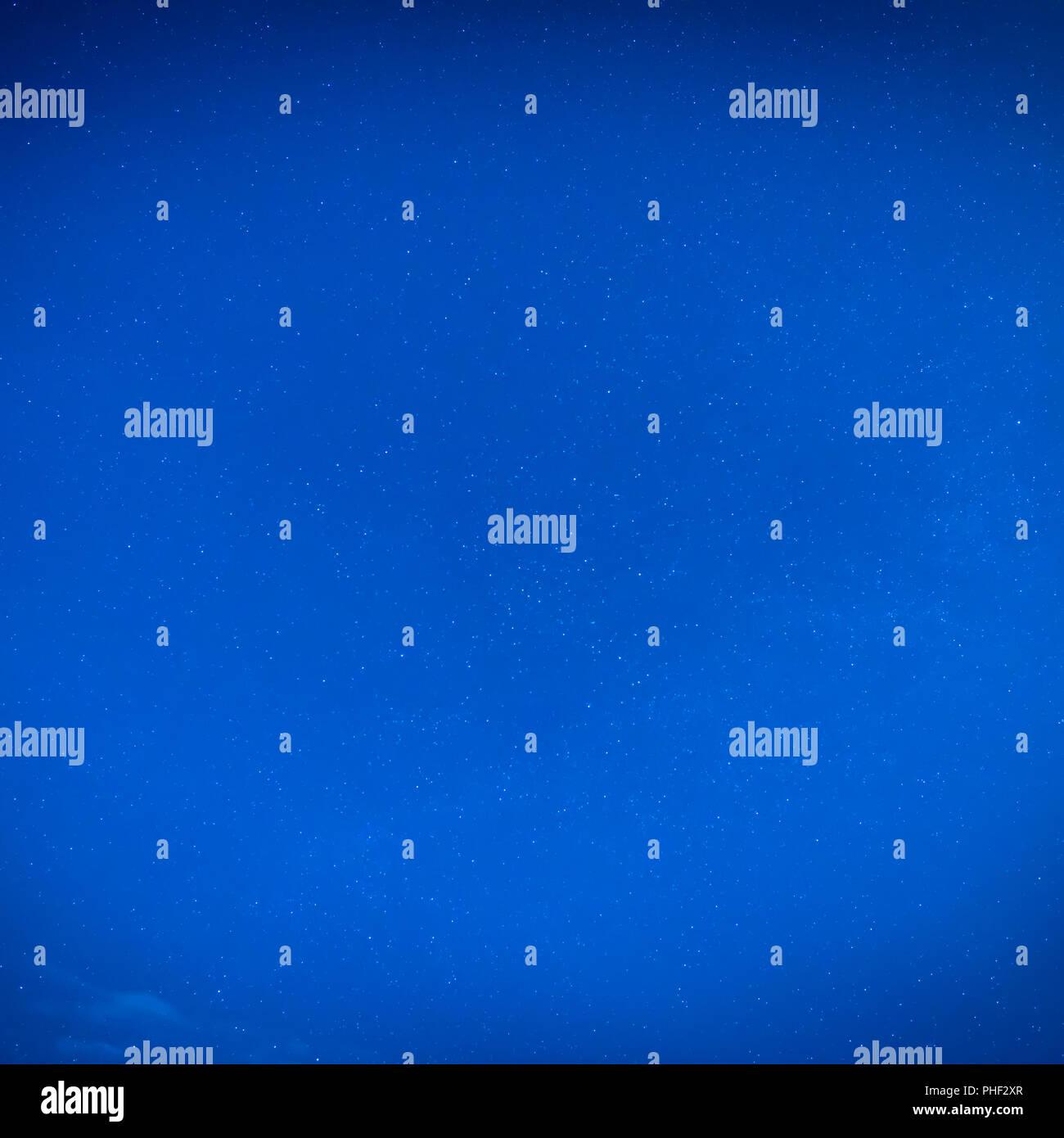 Blue night sky with many stars - Stock Image