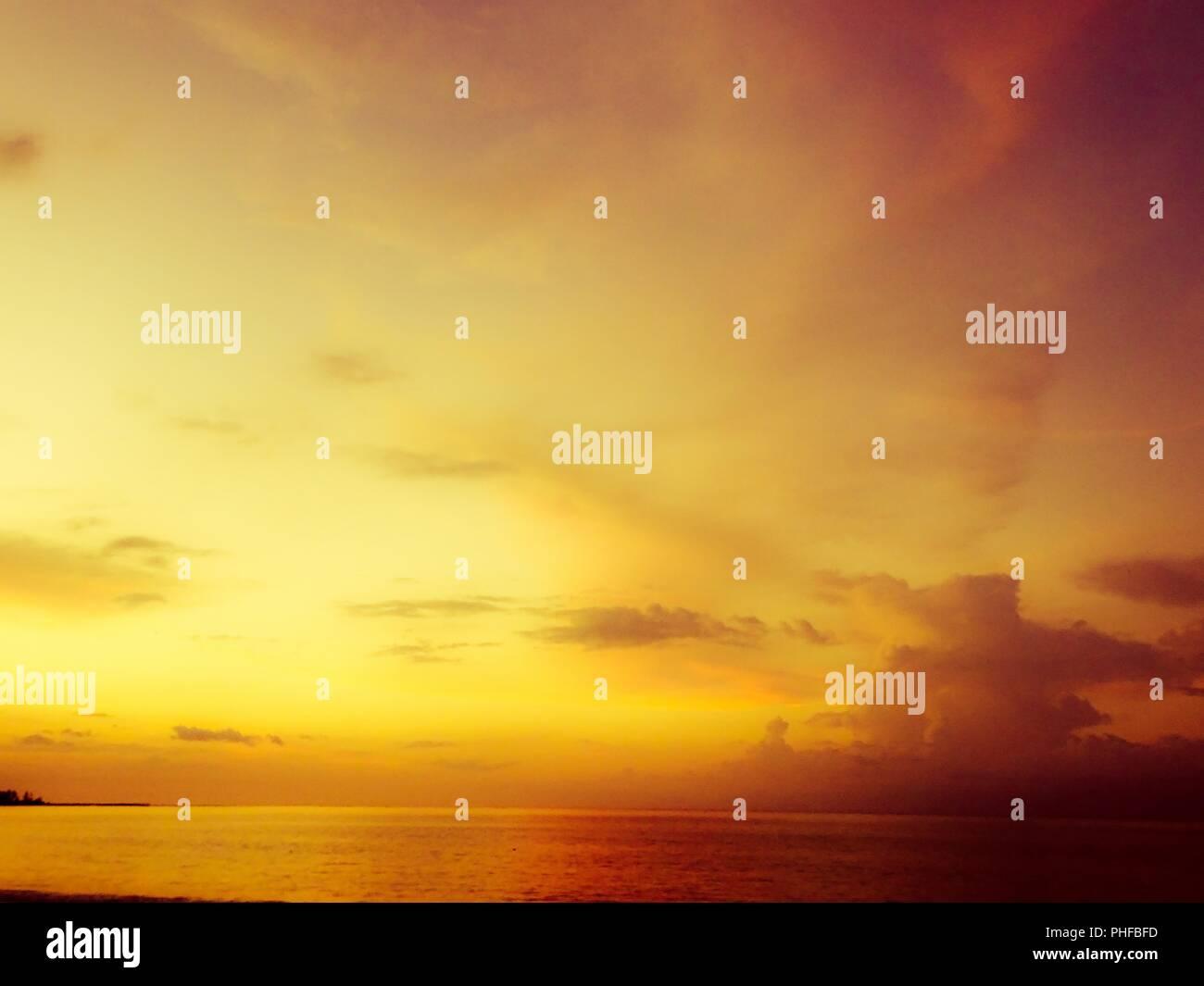 Beautiful sunrises and sunsets - Stock Image