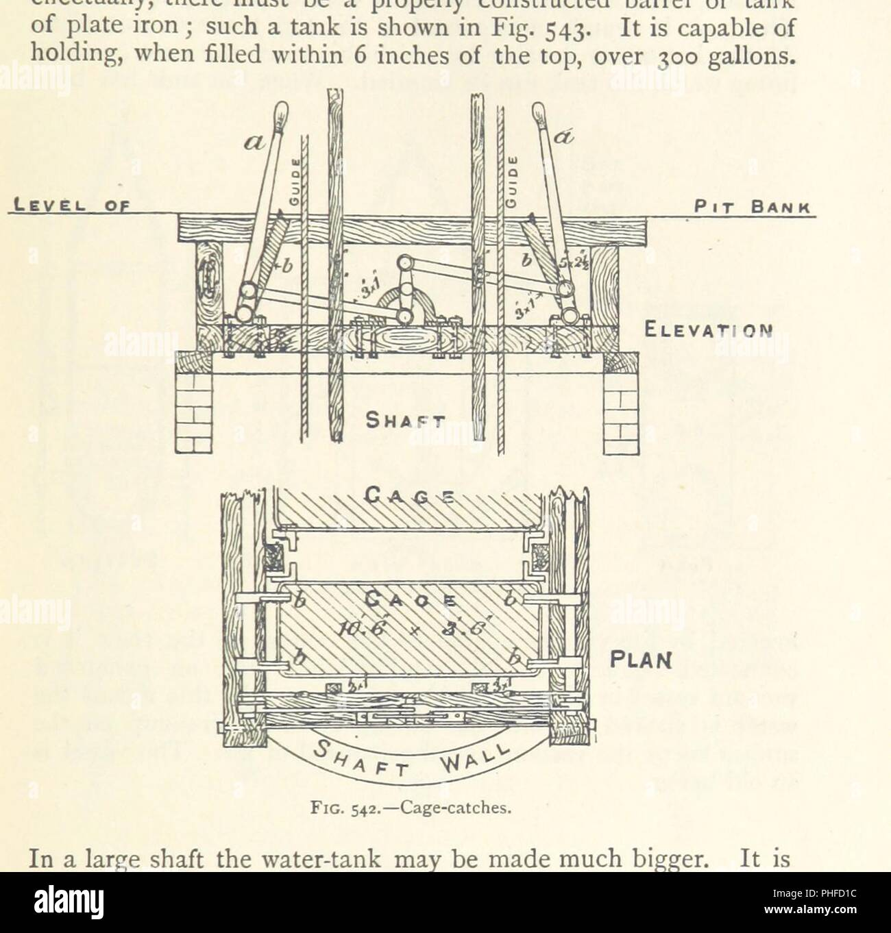 Elementary Treatise Stock Photos Images 543 Cat Engine Diagram Image From Page 459 Of Mining An On The Getting Minerals