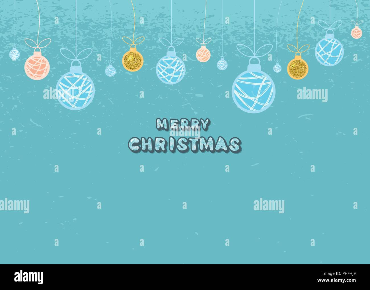Merry Christmas Greeting Template Creative Lettering With Decotated