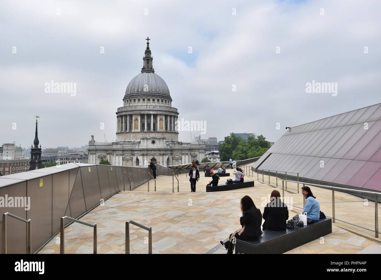 Saint Paul's Cathedral seen from One New Change, City of London, England, United Kingdom - Stock Image