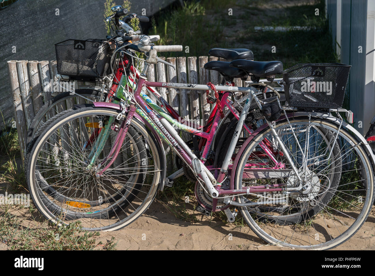 Bicycles theft proof - close-up - Stock Image