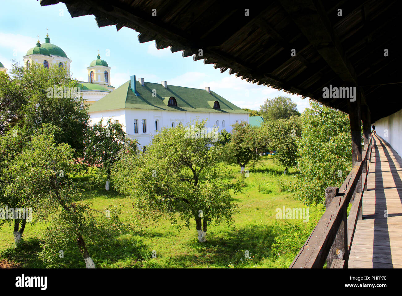 Ancient Slavonic wooden fortress in Novhorod-Siverskii - Stock Image