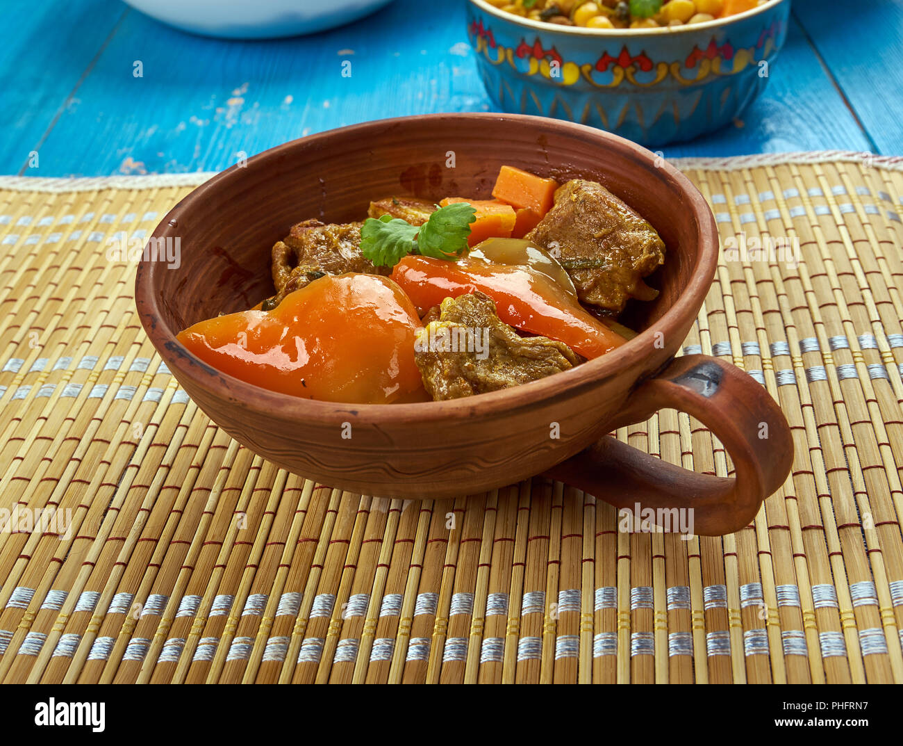 Azerbaijani dish Tava - Stock Image