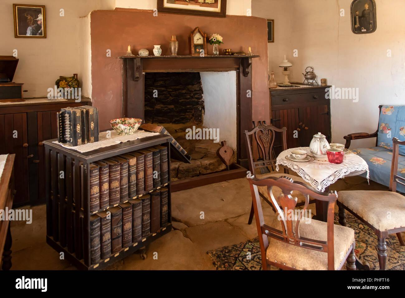 Inside Mangowine Homestead, Nungarin, WA, Australia - Stock Image