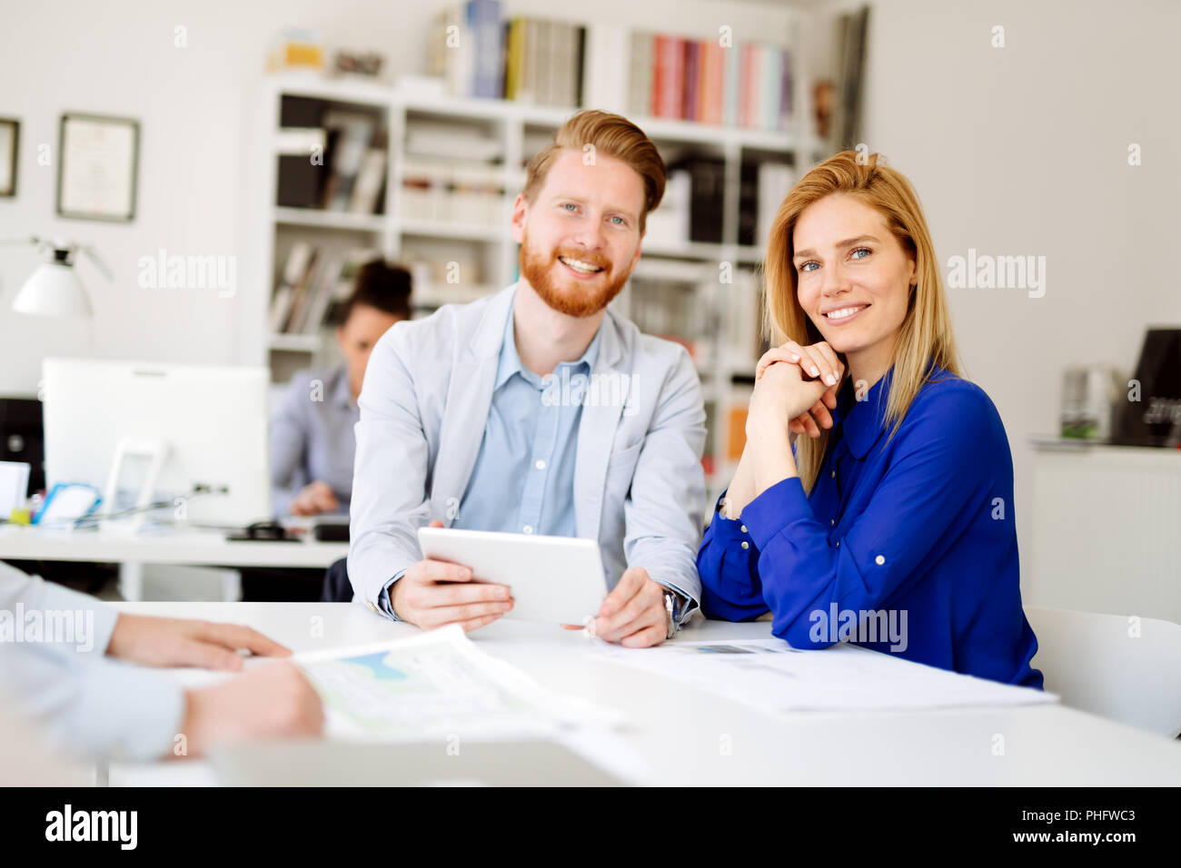 Business people office daily routine - Stock Image