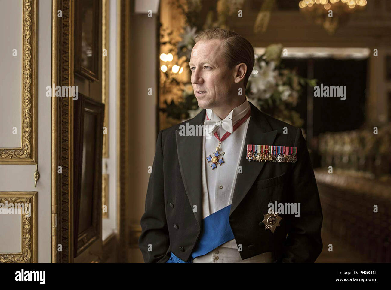 THE CROWN  Netflix TV series with Tobias Menzies as Philip, Duke of Edinburgh - Stock Image