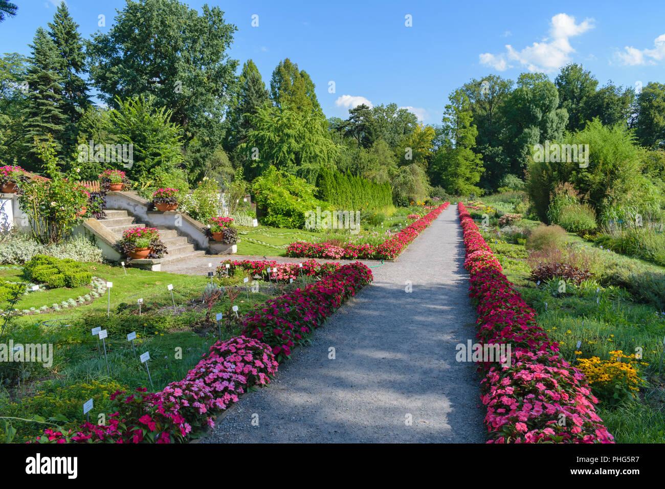 Krakow Poland August 13 2018 Botanic Garden Of The Jagiellonian University Stock Photo Alamy