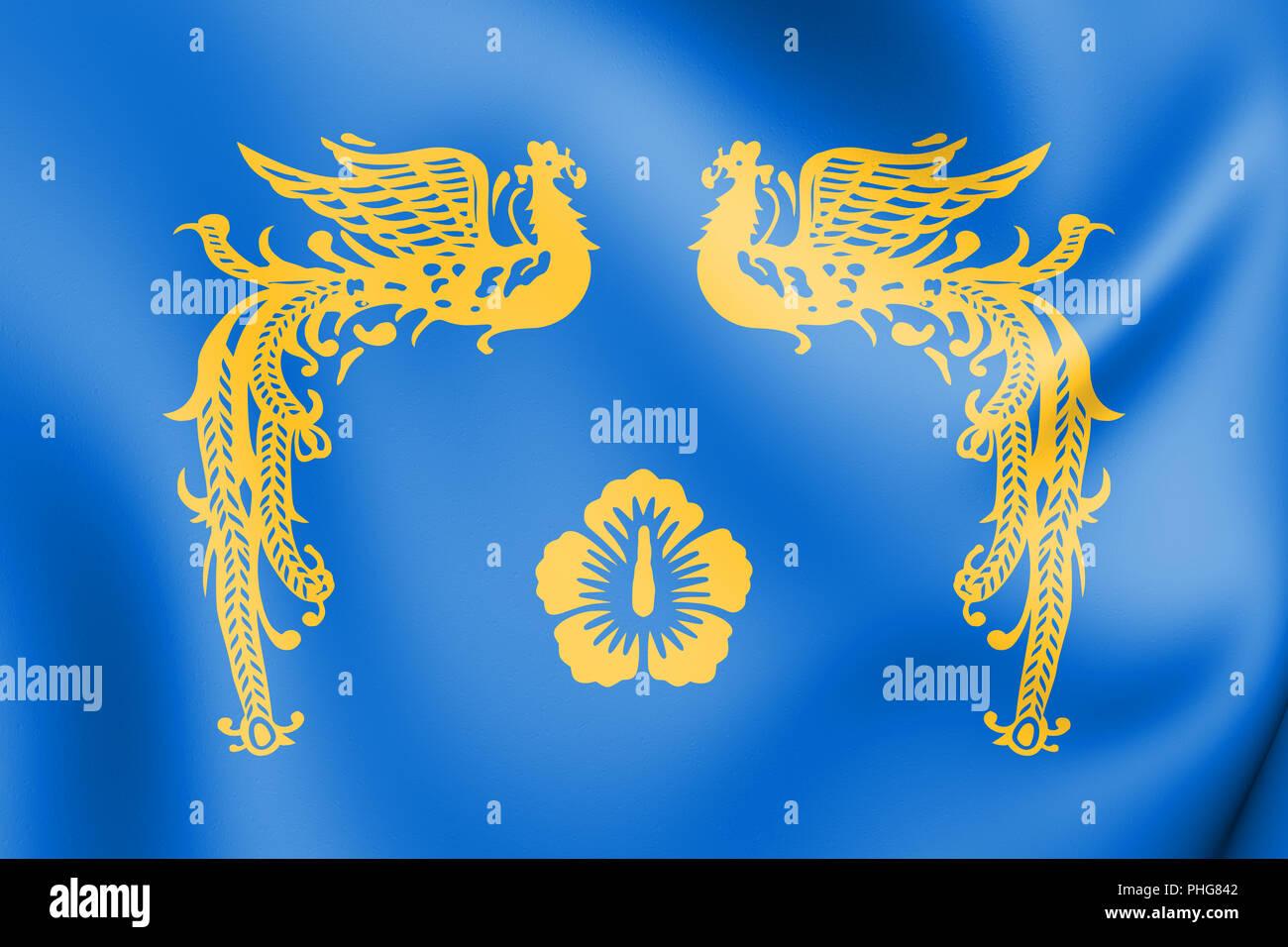 3D Presidential Standard of Republic of Korea. 3D Illustration. Stock Photo