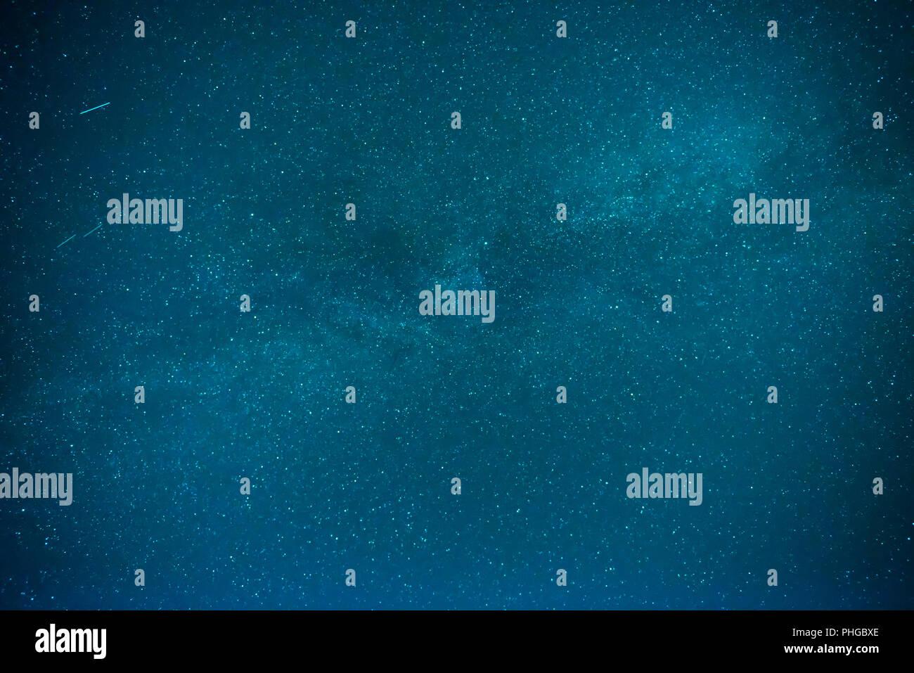 Night sky with many stars - Stock Image
