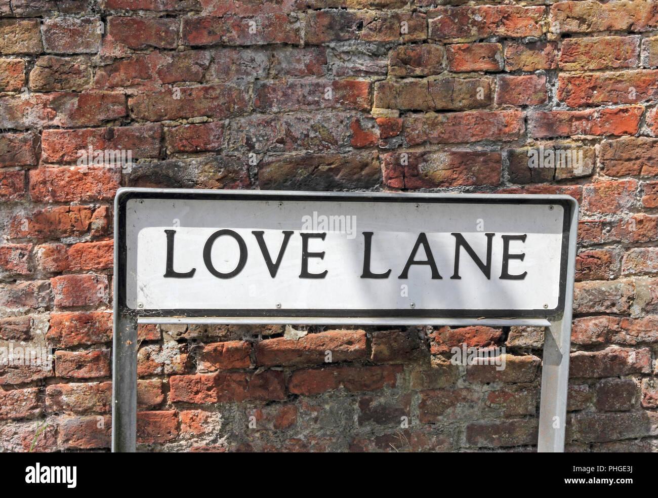 Love Lane street sign - Stock Image