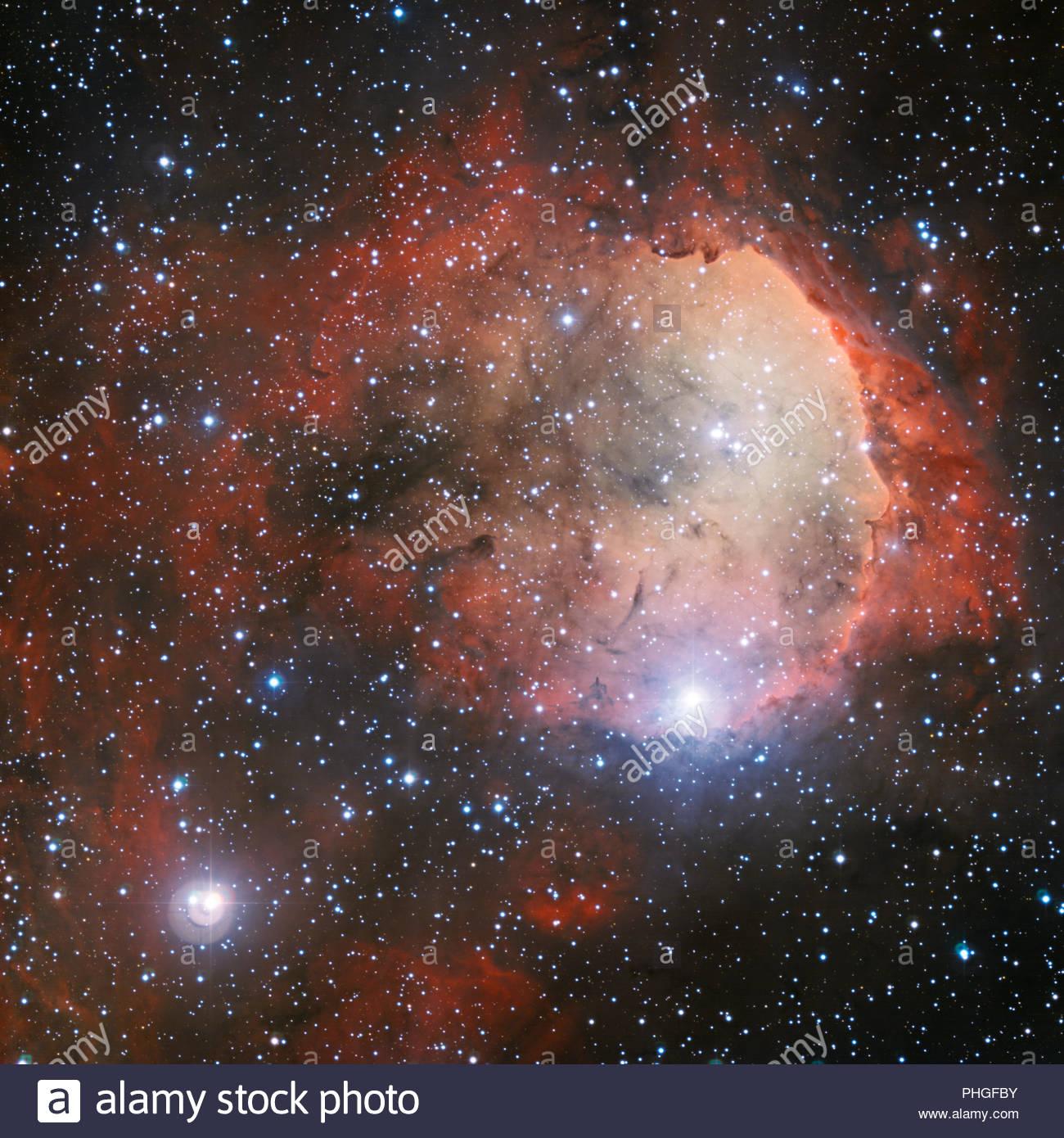 Illustration of a hot Jupiter planet in Messier 67 - Stock Image