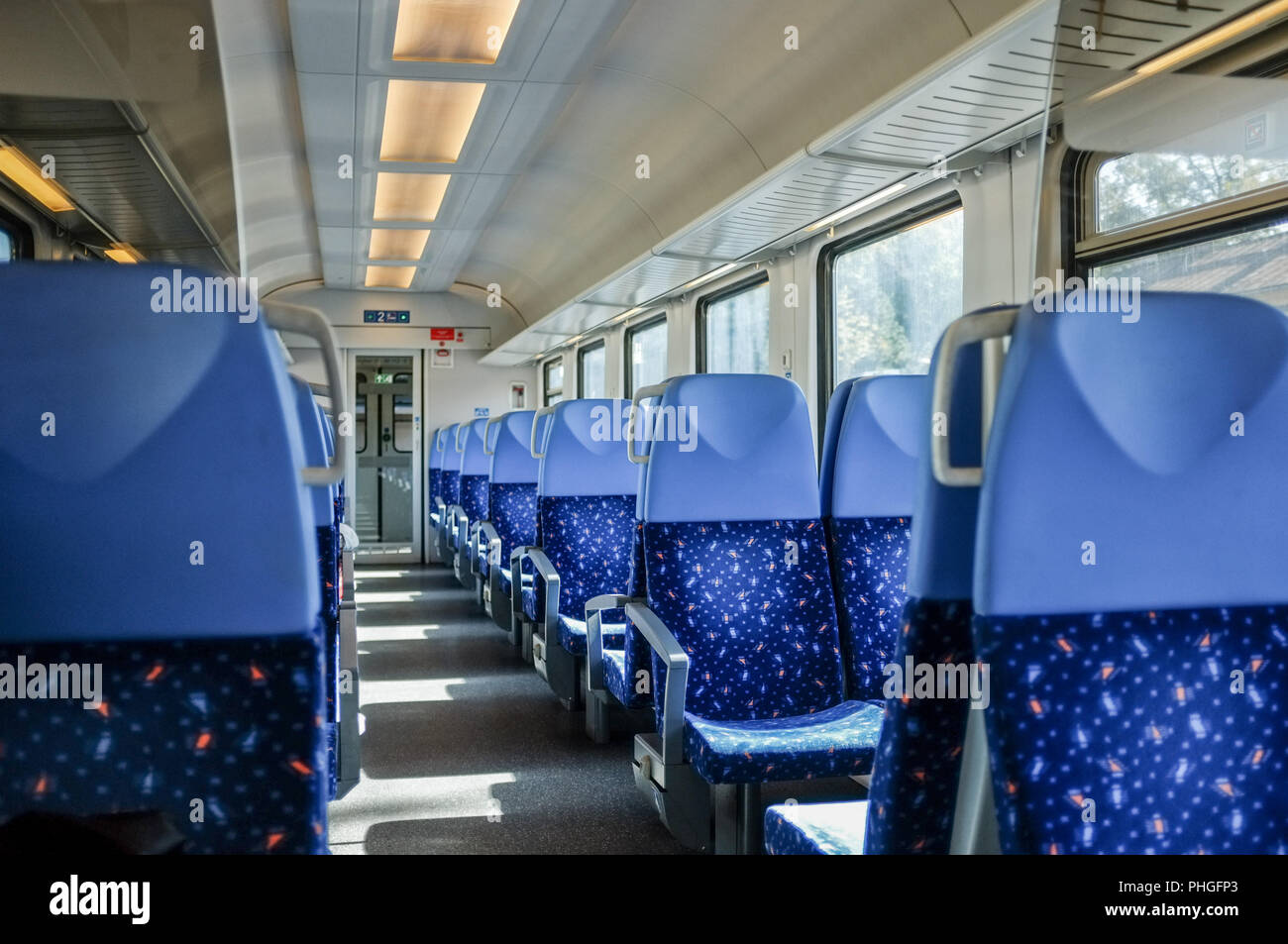 Out and about with an intercity in Slovakia - Stock Image