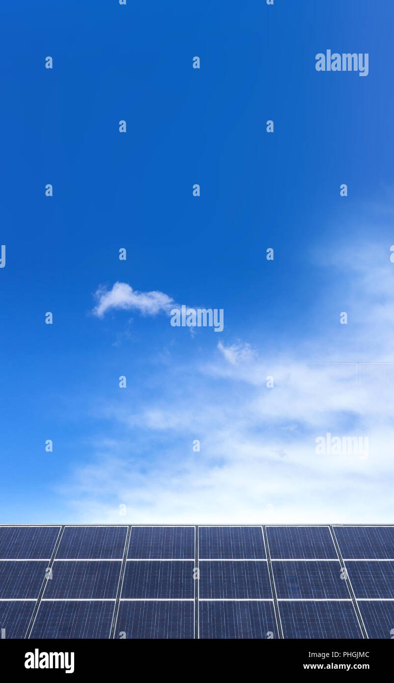 Photovoltaic panels for electricity production - Stock Image