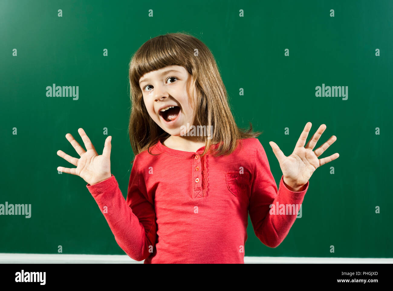 Cheerful little girl - Stock Image