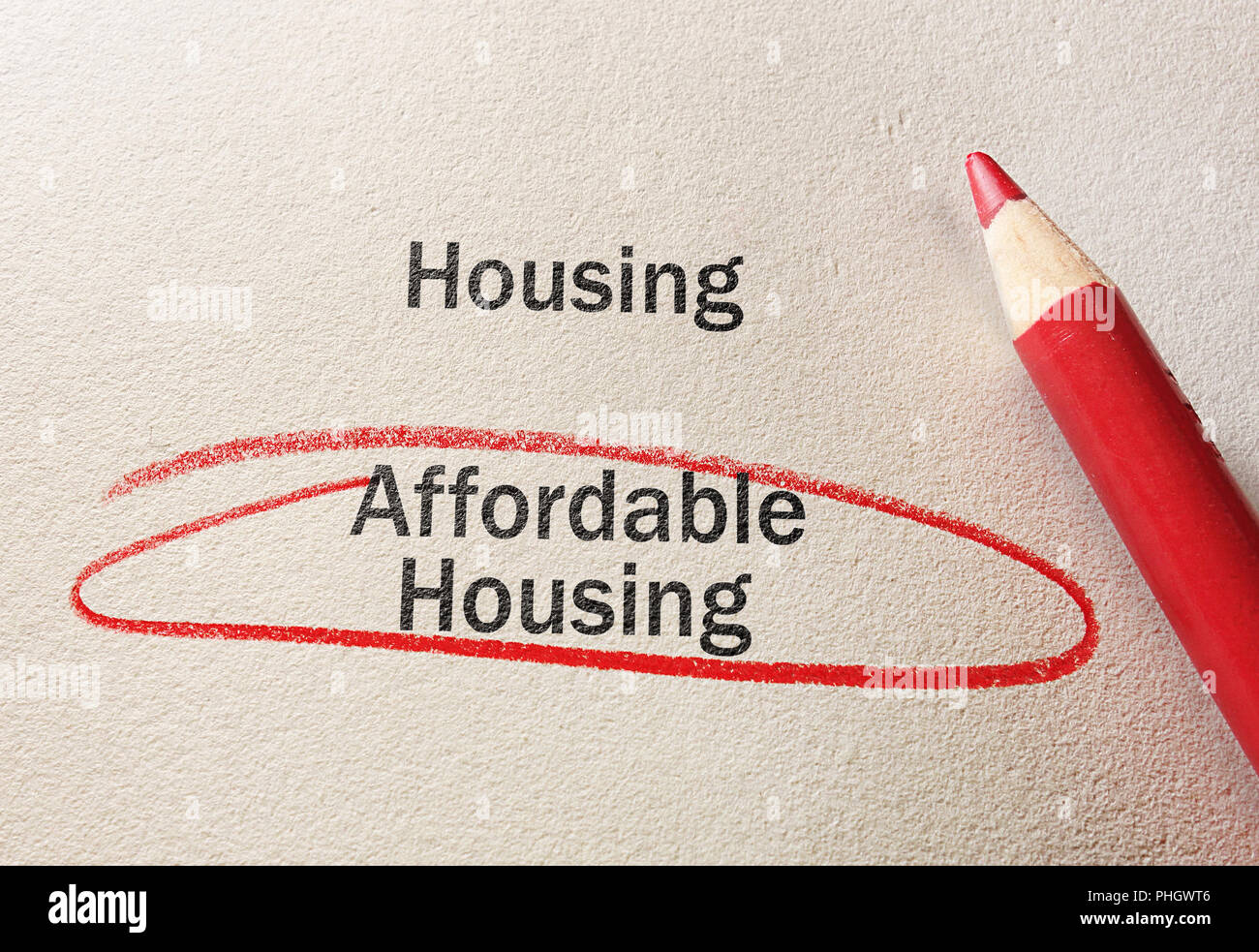 Affordable Housing concept - Stock Image