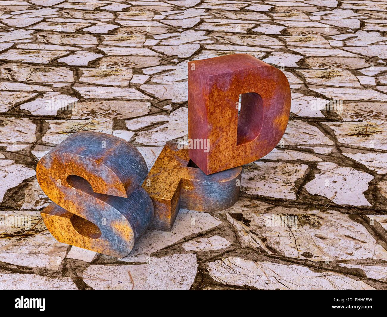 Crisis of rhe German socialists - Stock Image