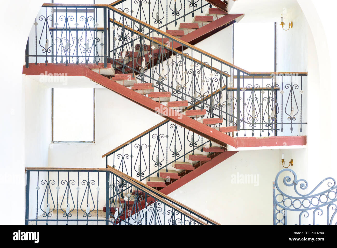 Ramp and staircases - Stock Image