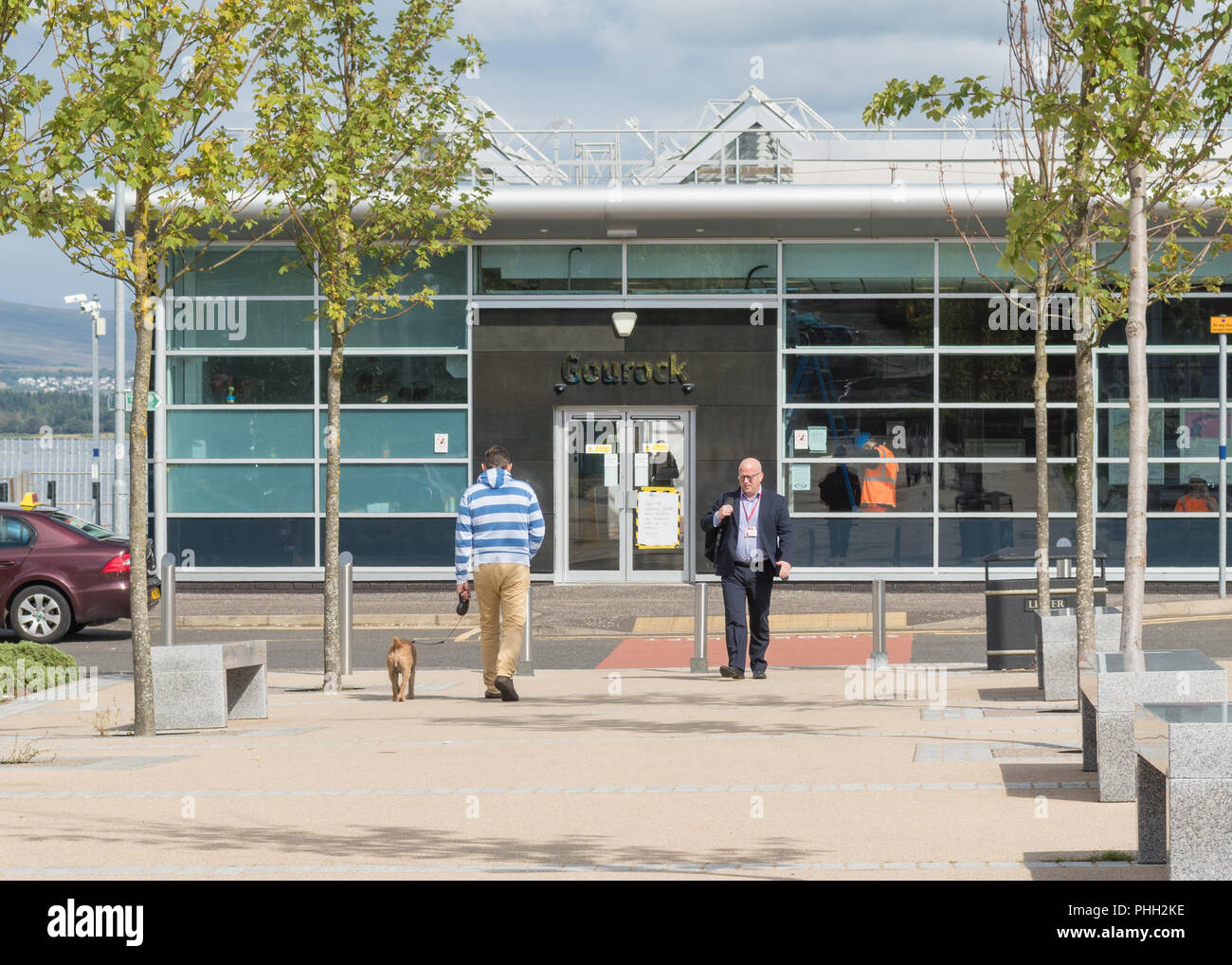 Gourock train station - a terminus station of the Inverclyde Line, Scotland, UK - Stock Image