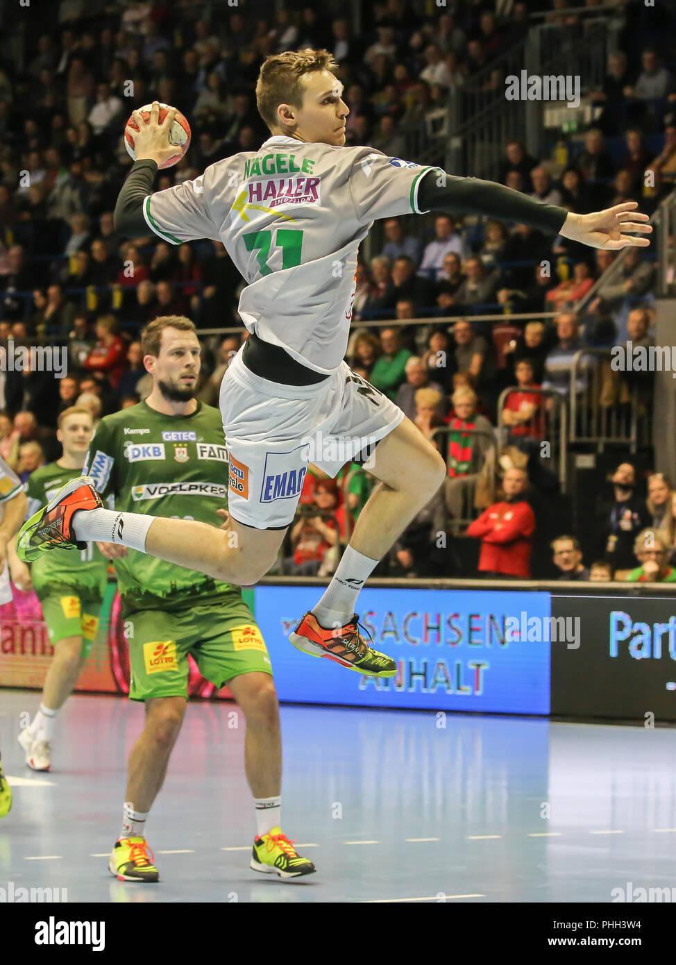 handball player Jochen Nägele (Frisch Auf Göppingen) - Stock Image