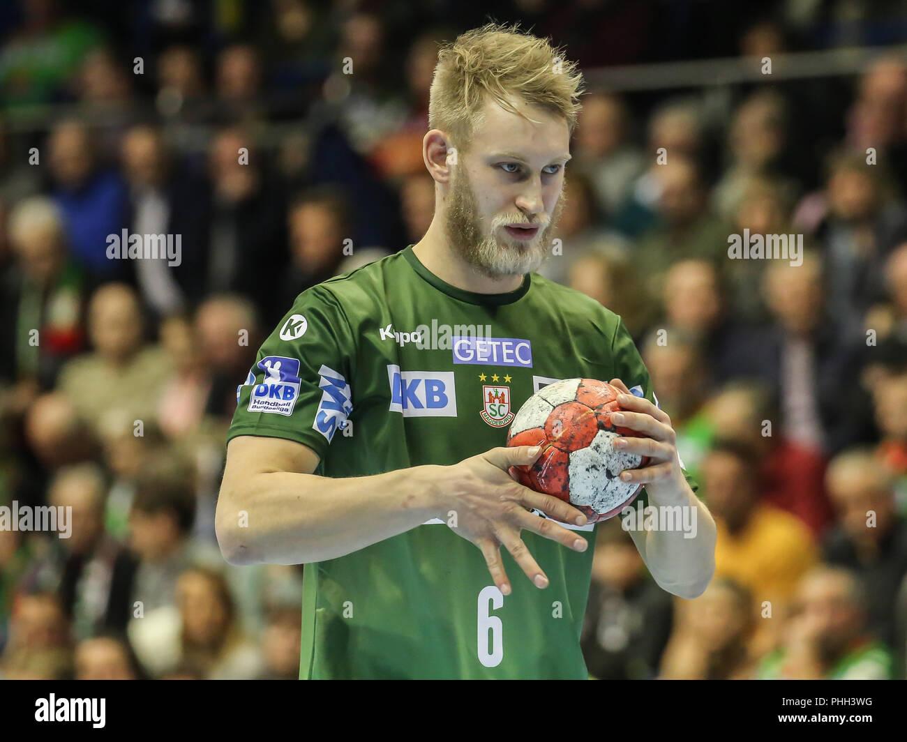 handball player Matthias Musche (SC Magdeburg) - Stock Image