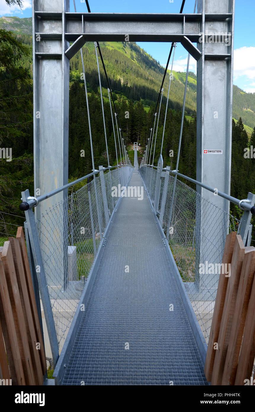 chainbridge; pendant bridge; swing bridge; Austria; Europe; - Stock Image