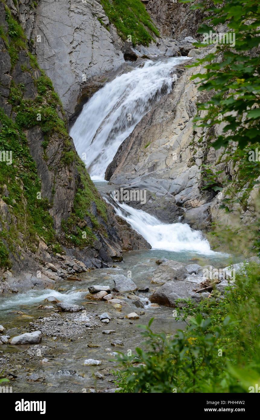 waterfall; Simms-Waterfall; Lech-valley; Austria; - Stock Image