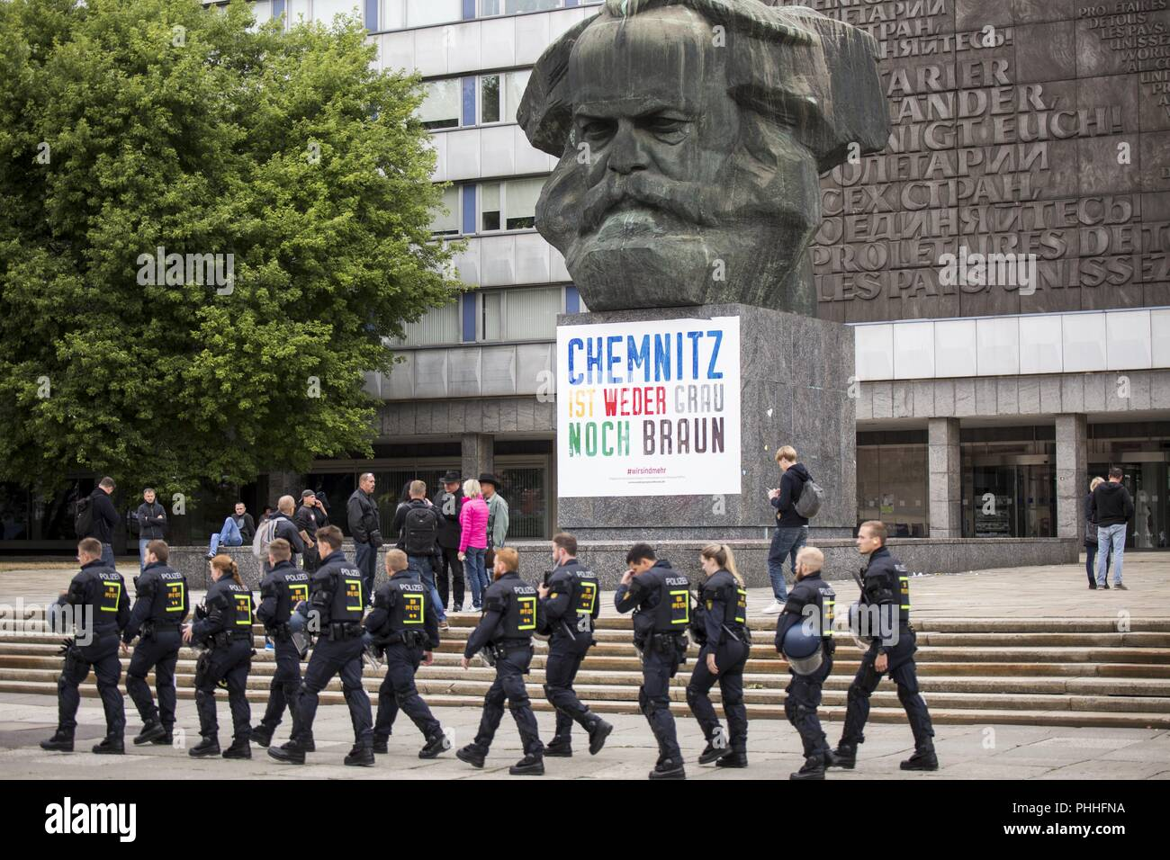 September 1, 2018 - Chemnitz, Saxony, Germany - Memorial and mourning of Daniel, who was stabbed to death last week (Credit Image: © Jannis Grosse/ZUMA Wire) Stock Photo
