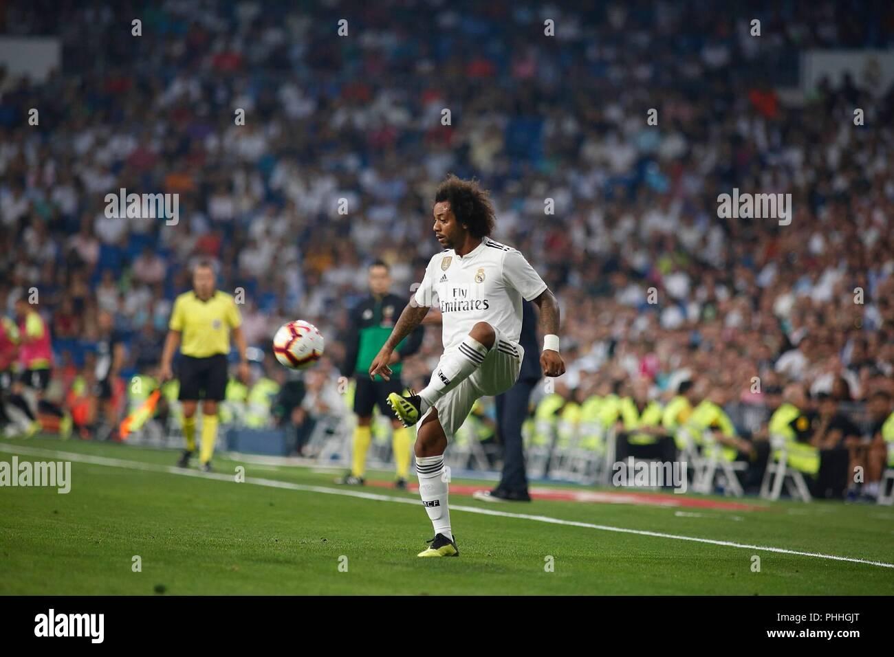 Madrid, Spain. 1th September 2018: Marcelo, defender from Real  Madrid CF, during  LaLiga Santander round 3 against CD Leganes at  Santiago Bernabeu. (Photo by: Ivan Abanades Medina / Cordon Press).   Cordon Press - Stock Image