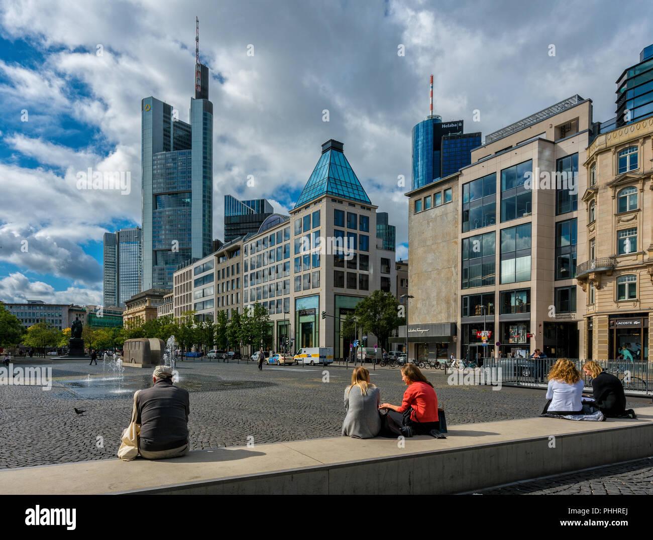 Goethe Place in Frankfurt am Main Stock Photo