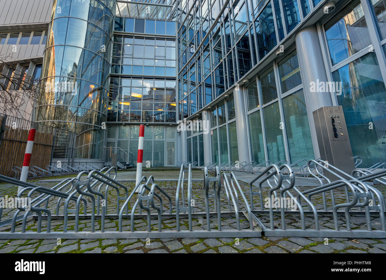 Bicycle parking Frame Stock Photo