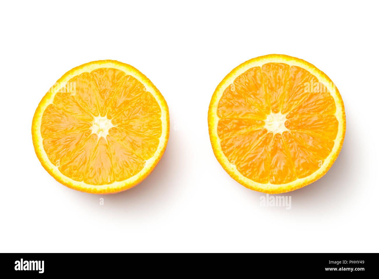 Orange Isolated on White Background - Stock Image
