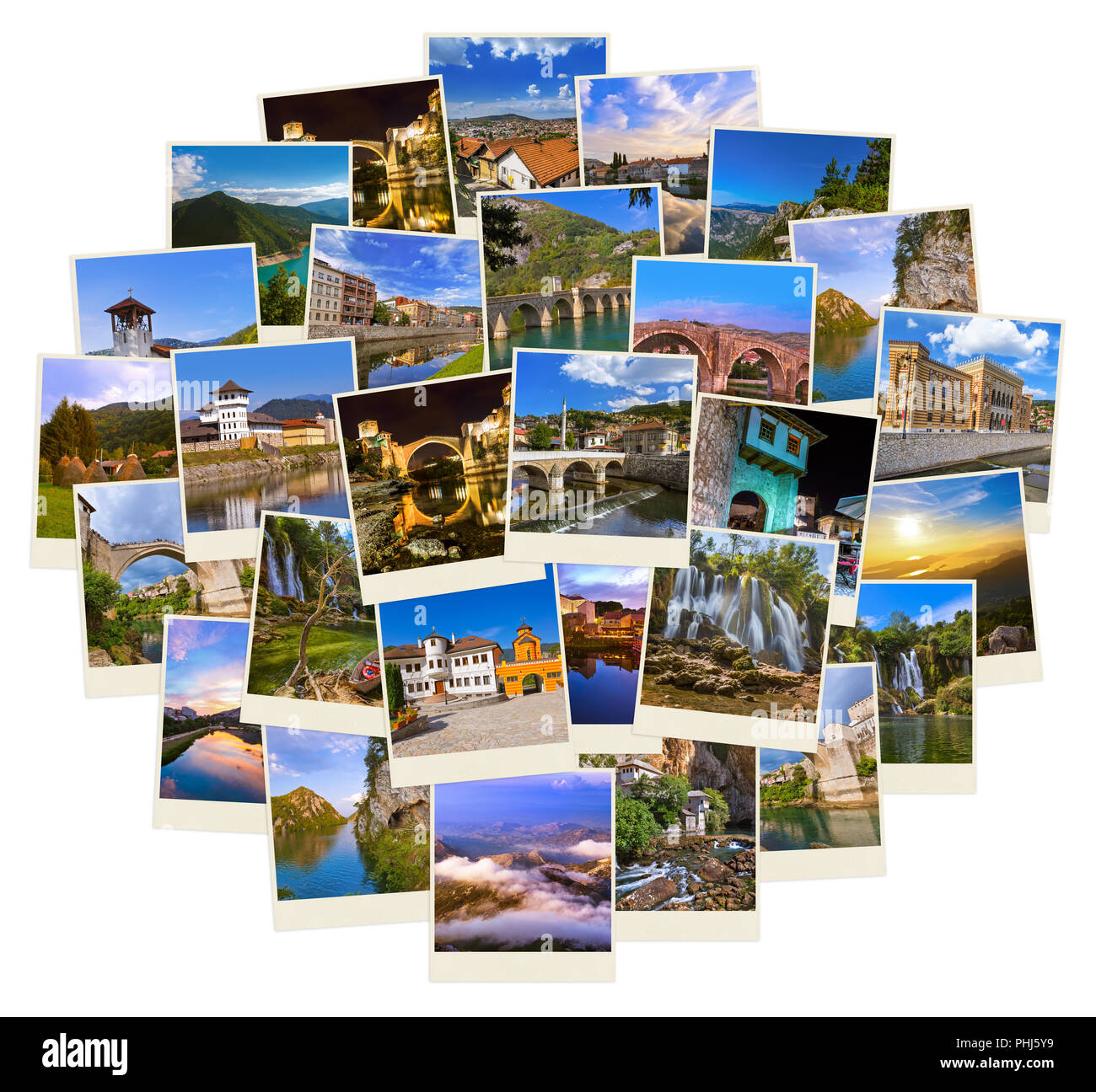 Stack of Bosnia and Herzegovina images (my photos) - Stock Image