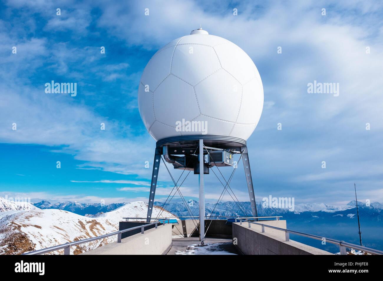 meteorological station of Monte Lema Switzerland - Stock Image