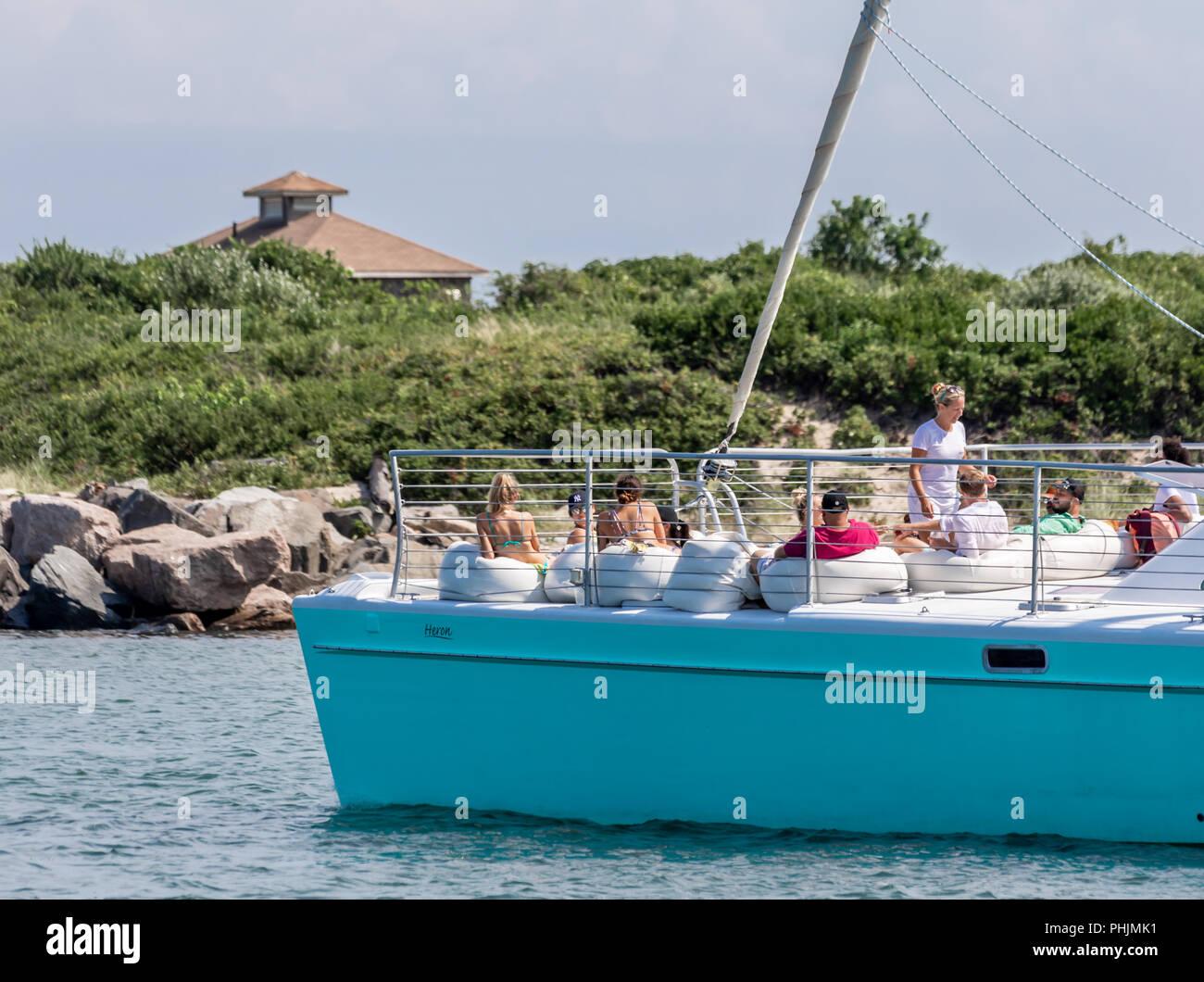 girl in bikini on boat