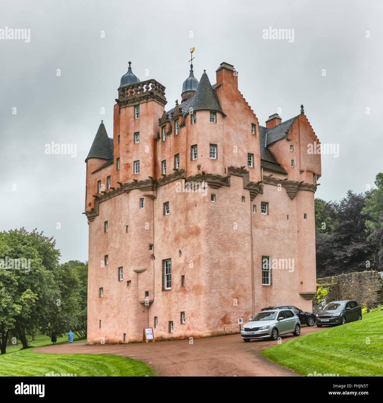 Craigievar castle (1626), Aberdeenshire, Scotland, UK - Stock Image