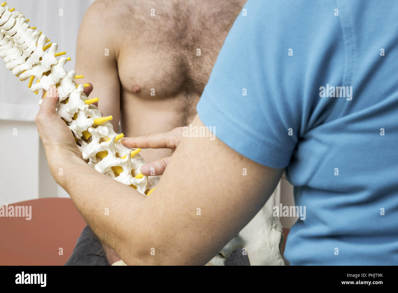 Physiotherapy showing spine - Stock Image