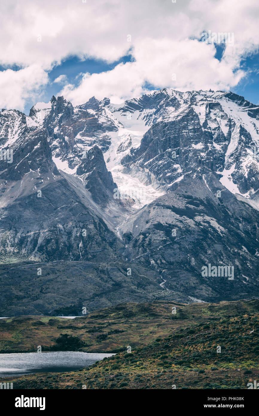 Torres del Paine landscape - Stock Image