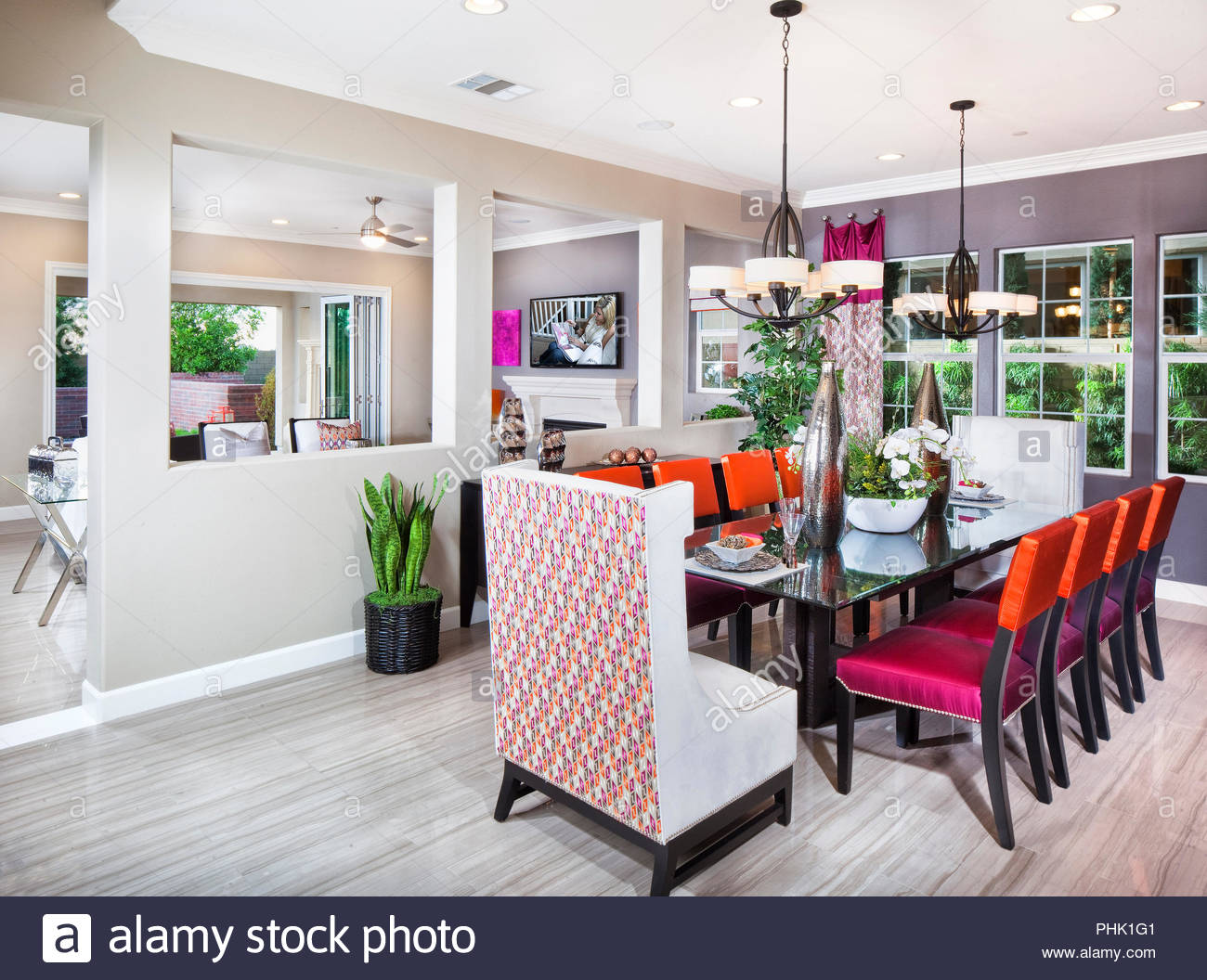 Bright dining room - Stock Image