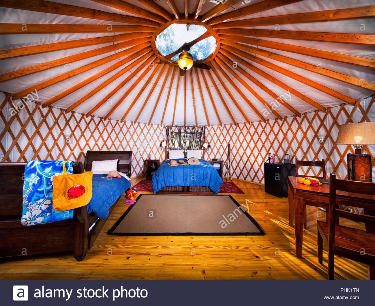 Yurt interior - Stock Image